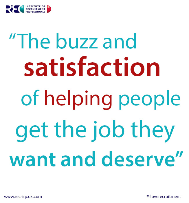 recruitment buzz satisfaction helping people
